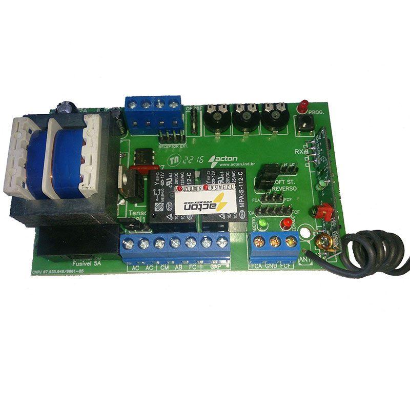 Central Placa Motor Automático Universal c/ Partida e Parada Suave