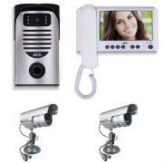 Vídeo Porteiro Color Tela LCD 7'' TFT + 2 Câmeras