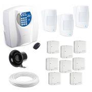 Kit Alarme Residencial e Comercial c/ 11 Sensores sem Fio e Discadora Genno