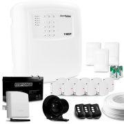 Kit Alarme Max 4 Setores com Discadora GSM ECP + 13 Sensores sem Fio