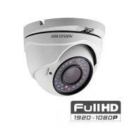 Câmera Dome HDTVI Turbo 2,0 MP 1080P Lente 3,6mm Full HD - Hikvision