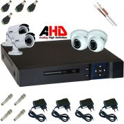 Kit DVR de 4 Canais com 4 Câmeras 1.3mp 1280 X 960P AHD Citrox