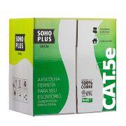 Cabo de Rede Furukawa Cat5e Soho Plus Caixa 305 Metros Cinza