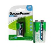 Bateria 9 Volts -  Golden Power G6f22bc1 (cartela 1 Unidade)