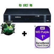 Dvr Intelbras 04 Canais Multi HD Mhdx 1004 C/ HD 1TB Western Digital