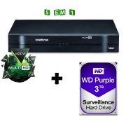 Dvr Intelbras 16 Canais Multi HD Mhdx 1016 C/ HD 3TB Western Digital