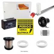 Kit Cerca Elétrica GCP 10000 CR para 70 Metros de Muro (Com Bateria)