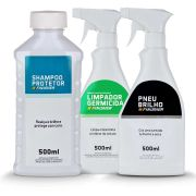 Kit Shampoo + Pneu Brilho + Germicida Finesher