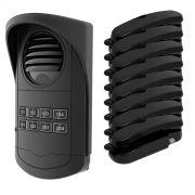 Porteiro Eletrônico Coletivo 8 Pontos Preto com 8 Monofones - AGL