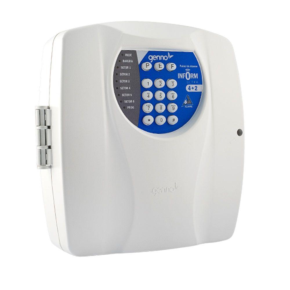 Central de Alarme Genno Inform Ultra 4+2 (6 Setores). Com Discadora