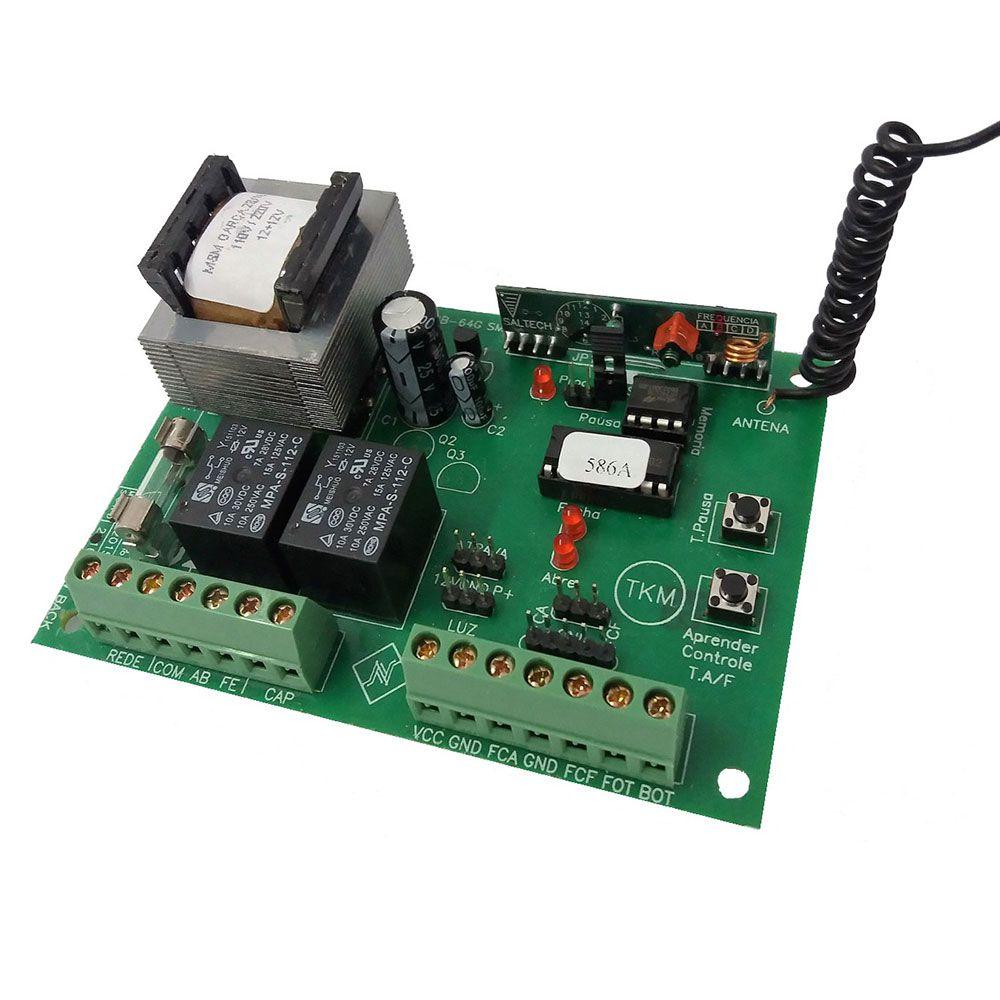 Central de Comando p/  Portão Eletrônico Universal Garen + 2 Controles