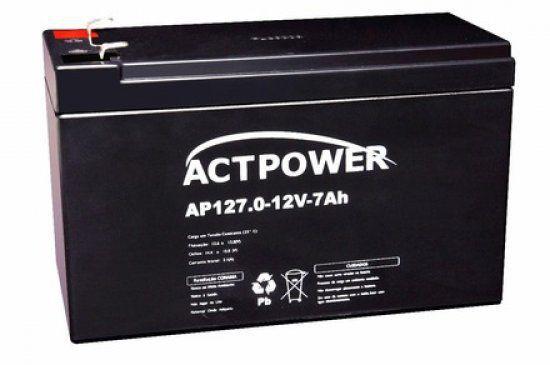 Bateria Selada Recarregável 12 Volts  7Ah - ACT Power