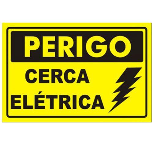 Placa de Advertência Cerca Elétrica