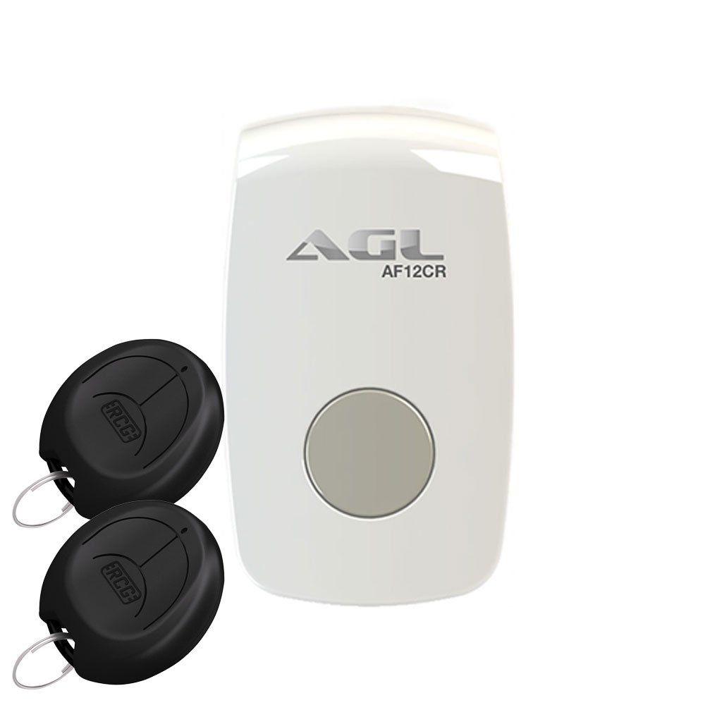 Acionador por Botão e Controle Remoto AGL + 02 Controles Remoto
