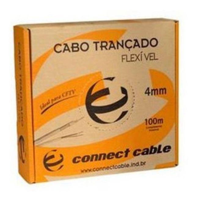 Cabo Coaxial Flexível (CFTV)  4 mm 80% Bipolar Caixa 100 Mts