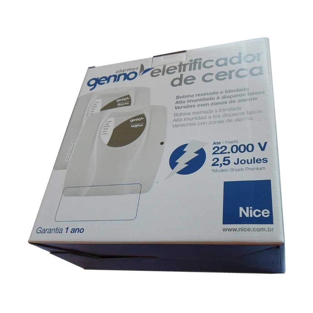 Central de Cerca Elétrica Shock Premium Comunic 2,5 Joules + Alarme 2 Setores