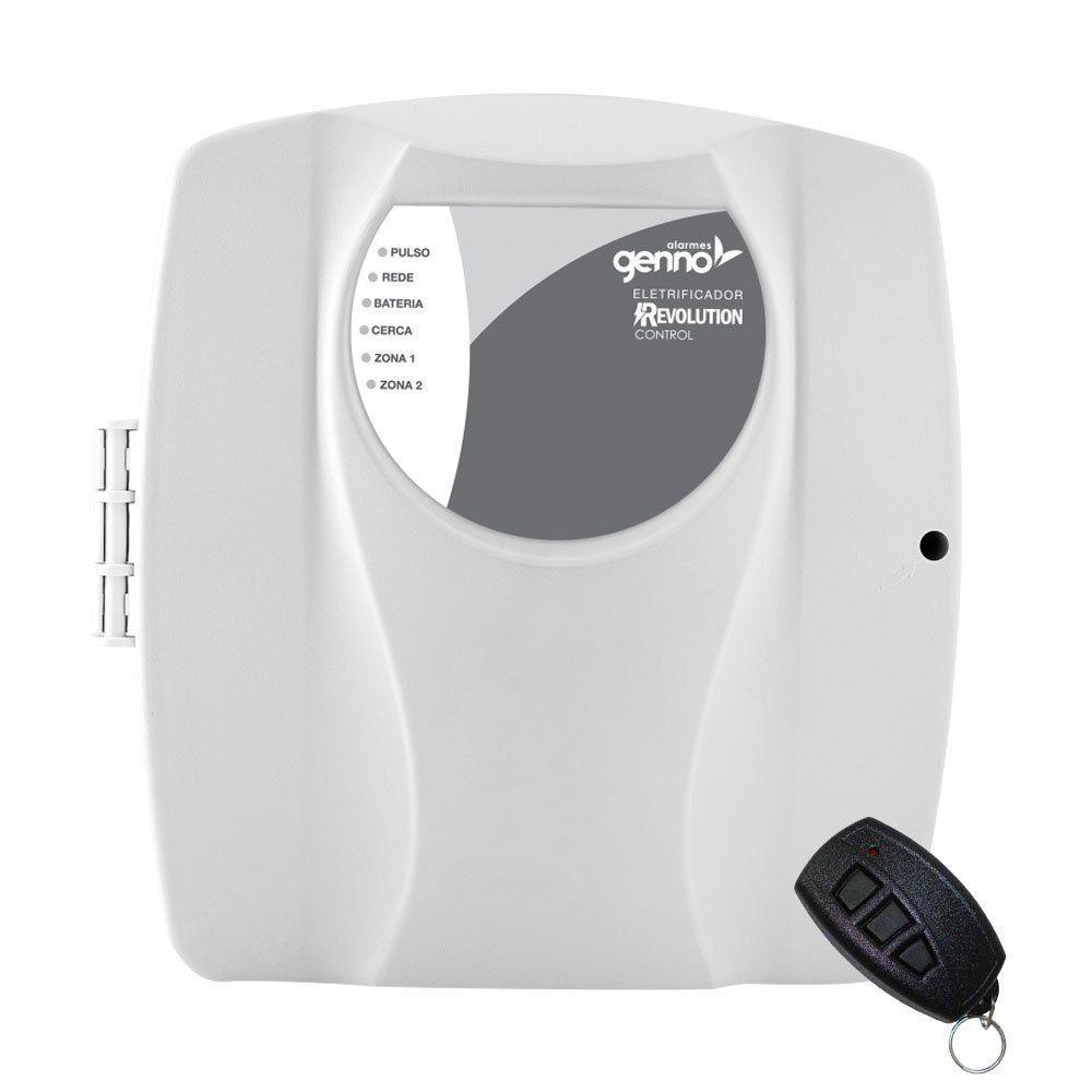 Central Eletrificador de Cerca Elétrica com Alarme Genno Revolution Control