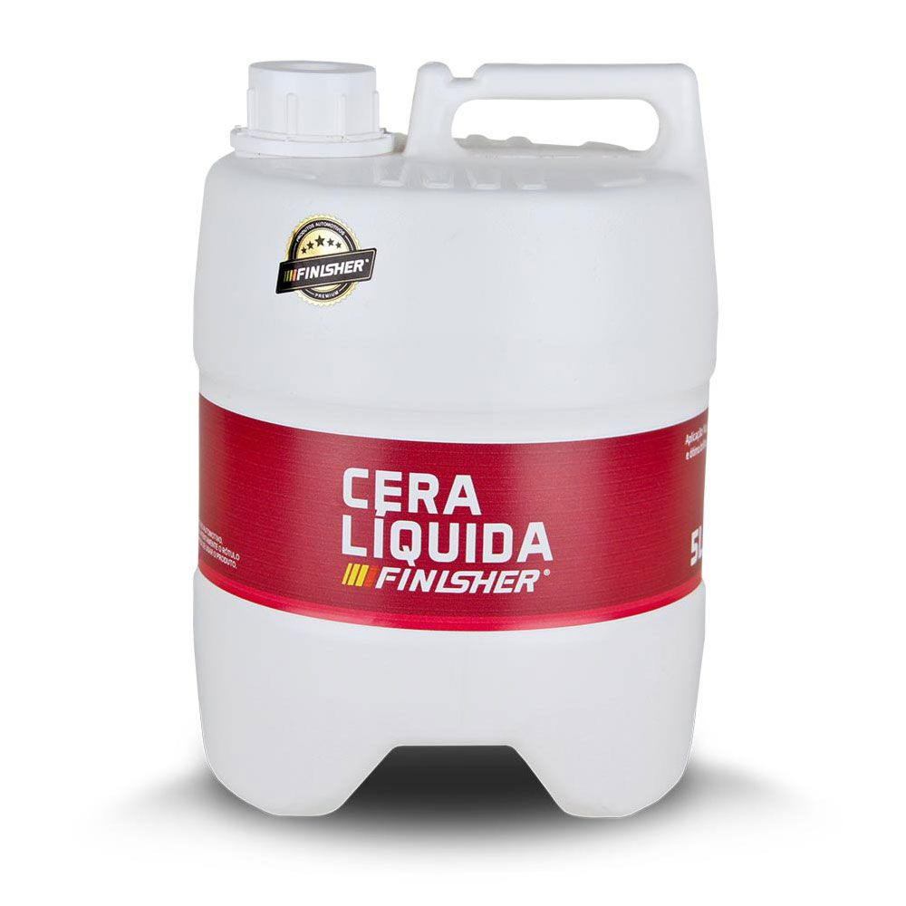 Cera Líquida Automotiva Finisher Galão de 5 Litros