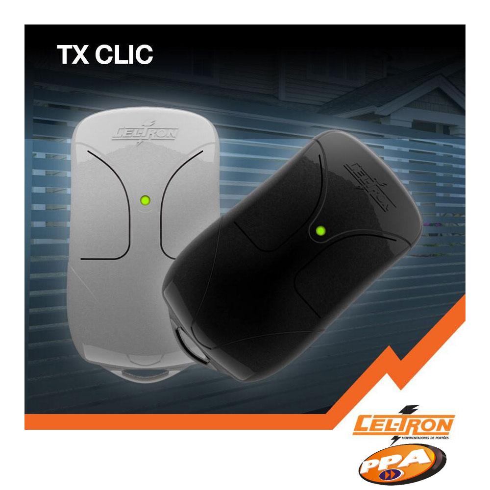 Controle Remoto 433Mhz TX CLIC Preto - Cel-Tron Grupo PPA