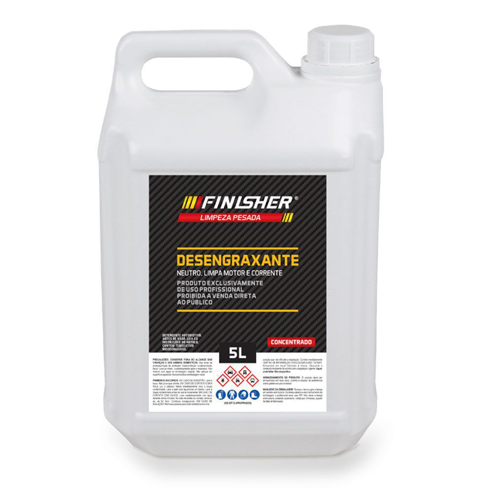 Detergente Desengraxante Neutro Concentrado Finisher 5 Litros