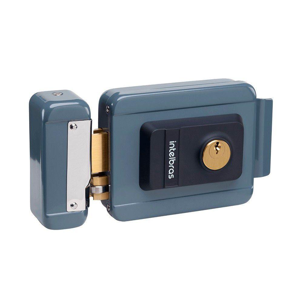 Fechadura Elétrica Intelbras Cilindro Fixo FX 2000 - Cinza 12 Volts