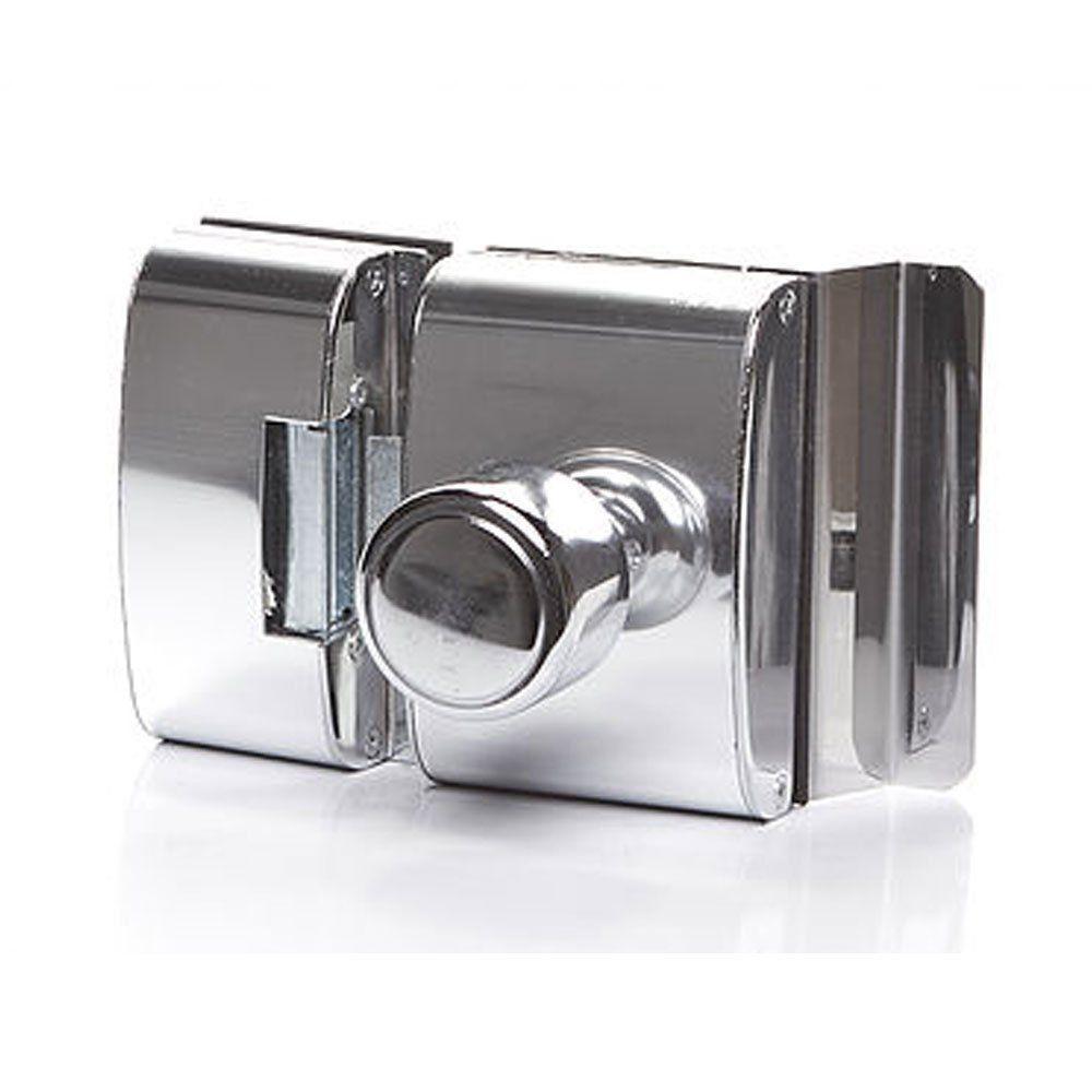 Fechadura para Porta de Vidro com Furo, 2 Folhas e Abertura Interna PV200F2I - AGL