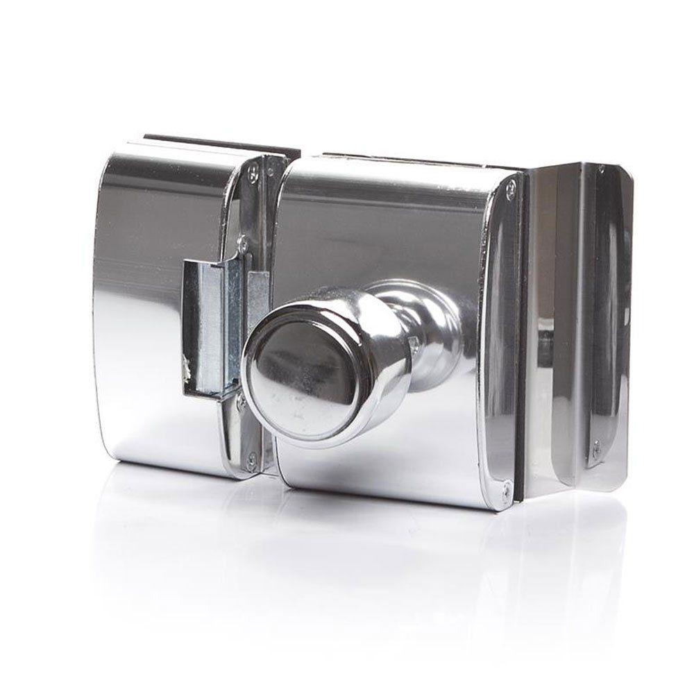 Fechadura para Porta de Vidro AGL -  com Rasgo, 2 Folhas e Abertura Interna PV200R2I - 12 Volts