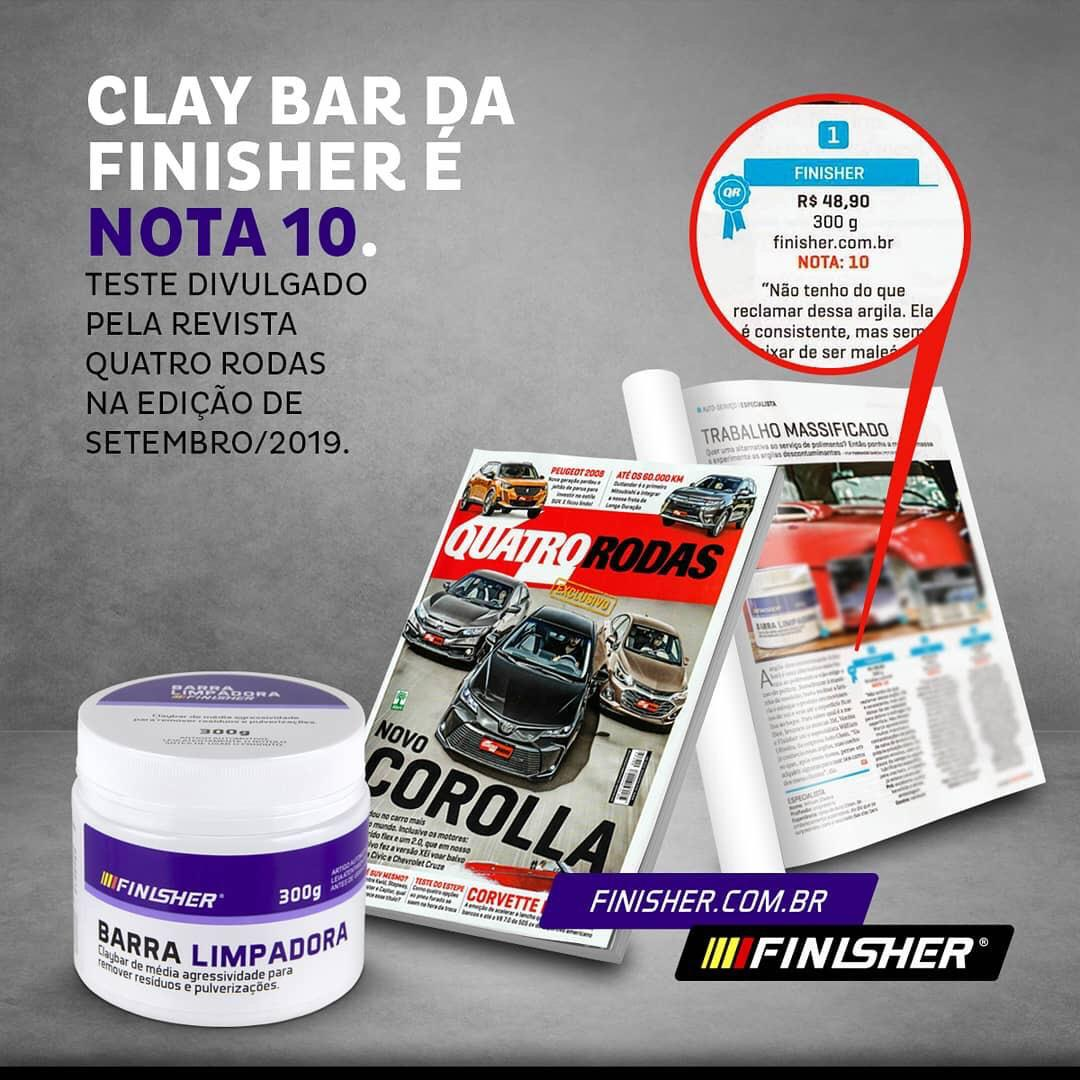Kit Lubrificante e Barra Descontaminadora (Clay Bar) -  Finisher