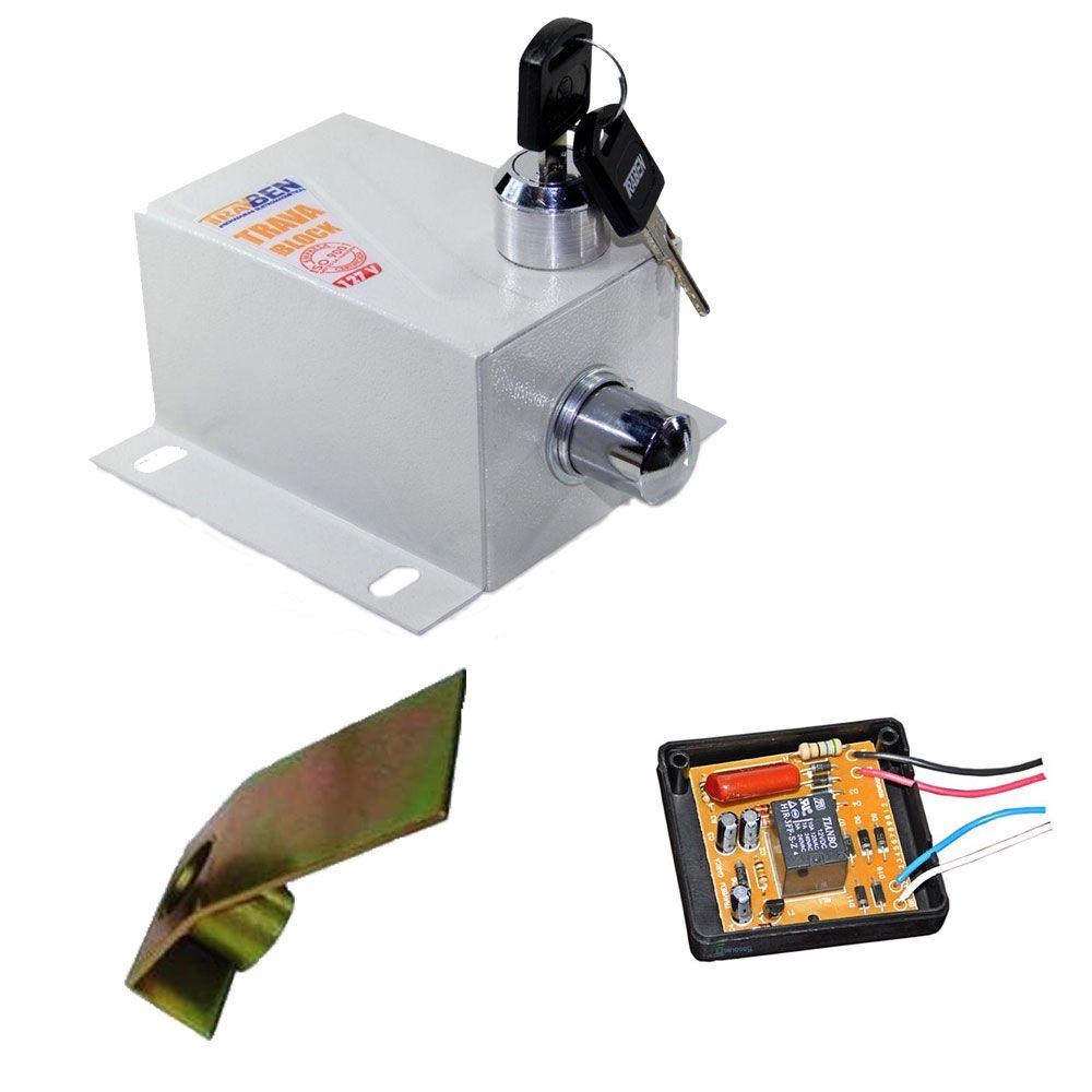 Trava Elétrica Block TravBen Para Portão Automático  com Módulo Temporizador