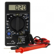 Multímetro Digital Corrente Ac + Dc Tensão 200m~1000v Bateria 9v Preto Multilaser - AU325