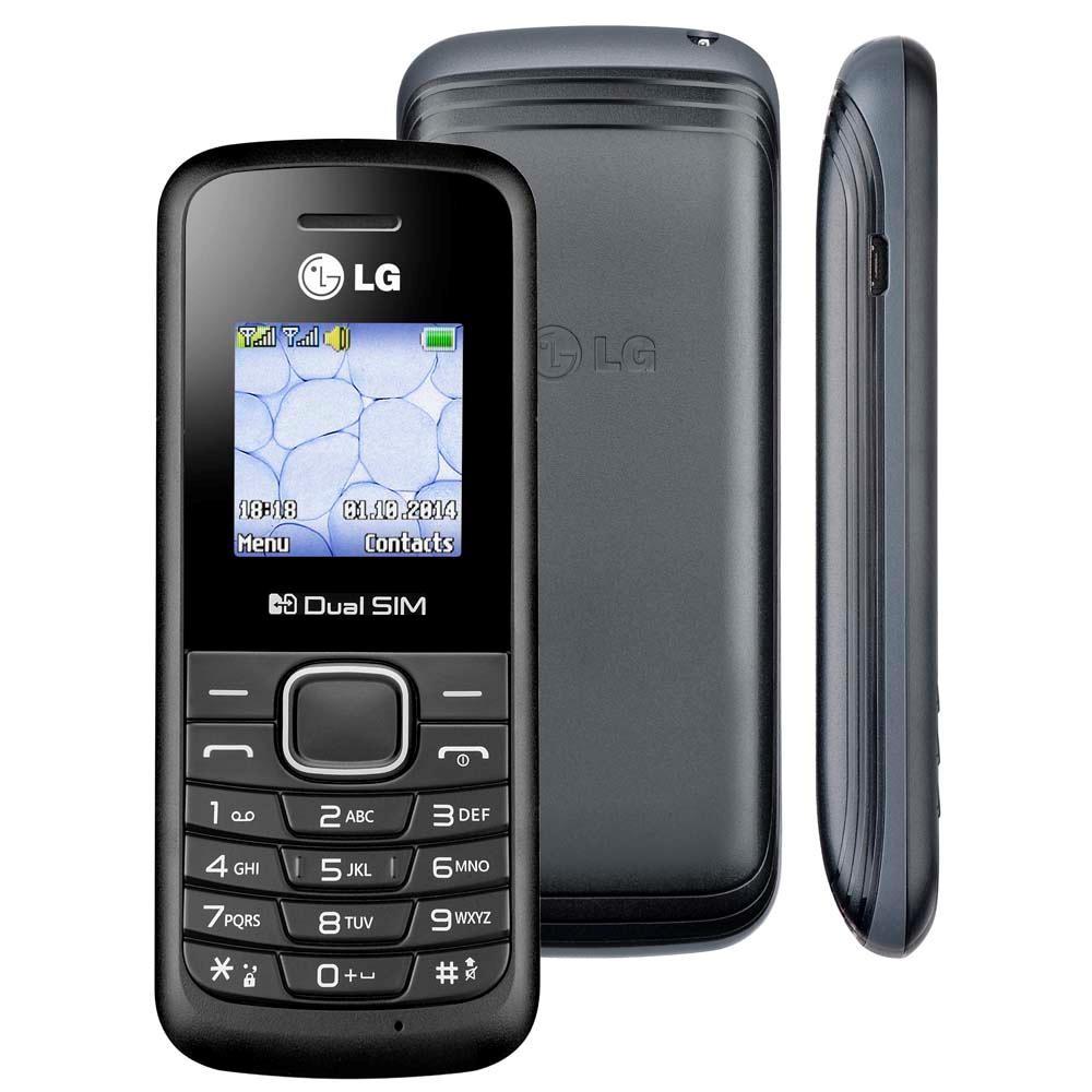 Celular LG B220 Dual Chip, Rádio FM, Lanterna, Desbloqueado - Preto  - COMPRAS VIA NET