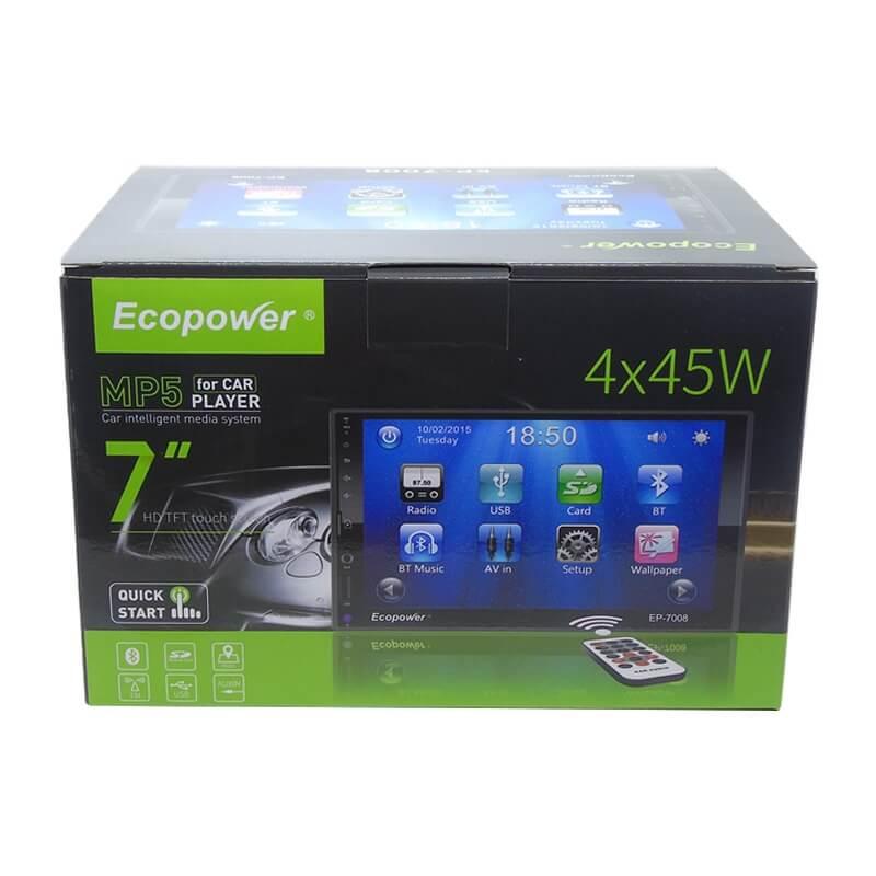 "Central Multimídia Universal Ecopower EP-7008 - 7"" - Bluetooth - USB  - COMPRAS VIA NET"