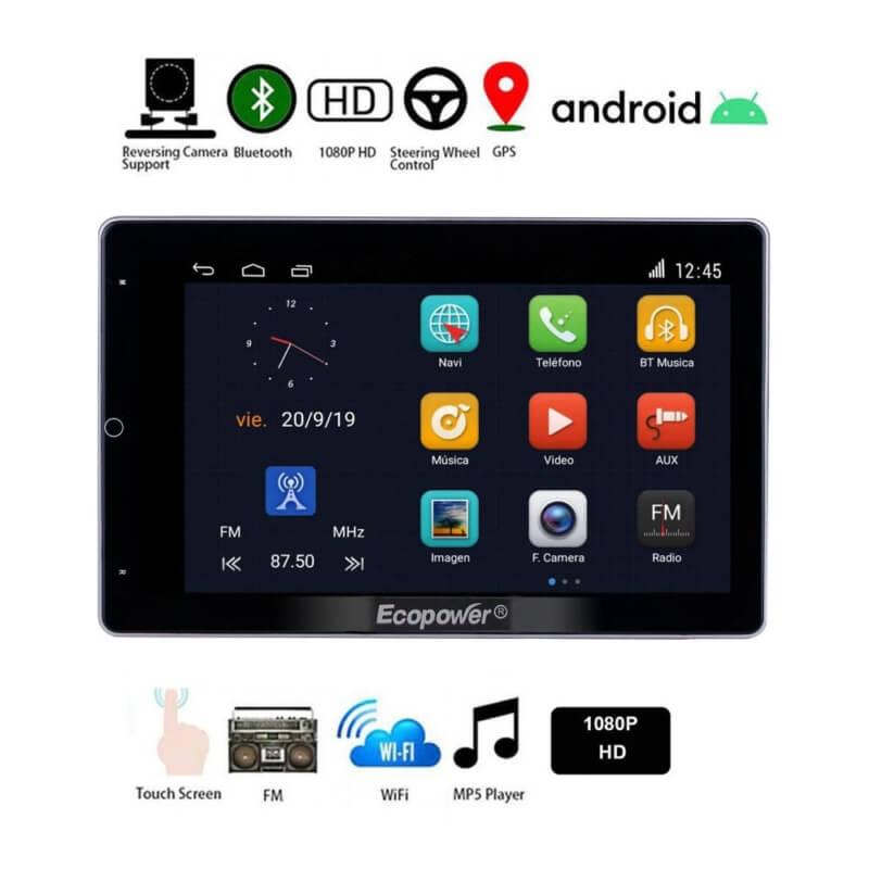 "Central Multimídia Universal Ecopower EP-8712 - Tela 10"" - Android - GPS - Wi-Fi - Bluetooth  - COMPRAS VIA NET"