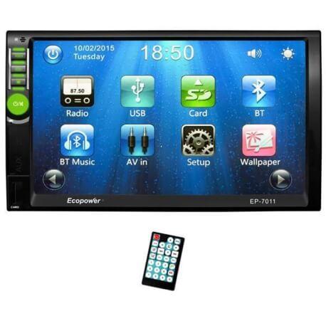 "Central Multimídia Universal Ecopower EP-7011 - 7"" - GPS - Bluetooth - USB  - COMPRAS VIA NET"