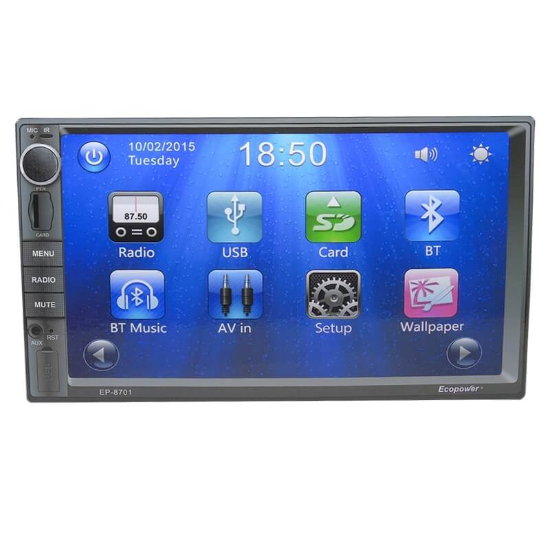 "Central Multimídia Universal Ecopower EP-8701 - 7"" - GPS - TV Digital - Bluetooth - USB  - COMPRAS VIA NET"