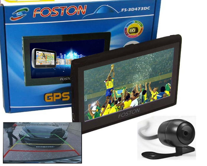 """GPS Foston FS-3D473 DC - c/ Câmera de Ré, TV Digital, Tela 4,3""""  - COMPRAS VIA NET"""