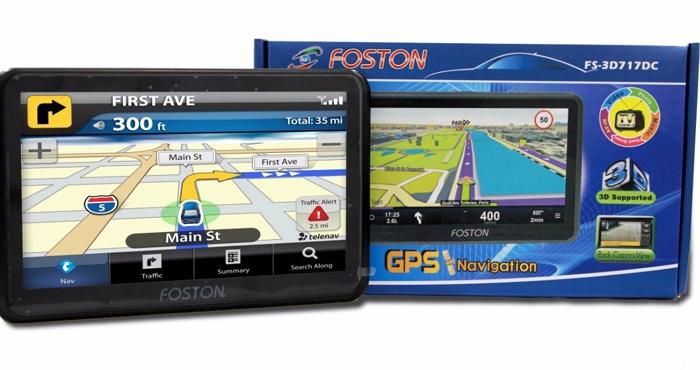 """GPS Foston FS-3D717 DC - c/ Câmera de Ré, TV Digital, Tela 7""""  - COMPRAS VIA NET"""