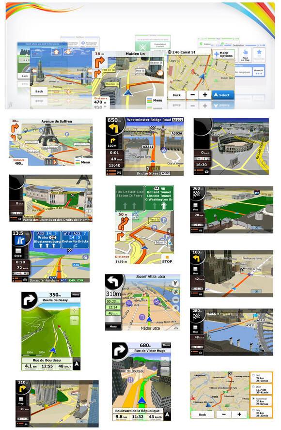 """GPS Foston FS-790GT - Igo Atualizado - c/ Câmera de Ré, TV Digital, Tela 7""""  - COMPRAS VIA NET"""
