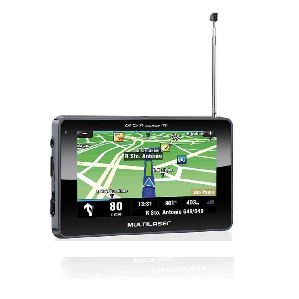 """GPS Multilaser Tracker 4.3"""" - GP034 - TV - Igo Atualizado  - COMPRAS VIA NET"""