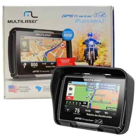 """GPS para Moto Resistente a Água - Multilaser 4.3"""" - GP040 - Igo Atualizado  - COMPRAS VIA NET"""