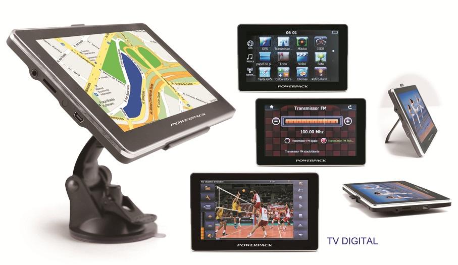 """GPS Powerpack BR-7038 ISDB-T Atualizado - Câmera de Ré, TV, Tela 7""""  - COMPRAS VIA NET"""