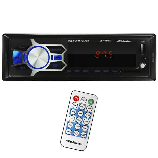 Rádio Automotivo B.Buster BB-6514LC 4 de 45 watts RMS Leitor SD - USB - Auxiliar  - COMPRAS VIA NET