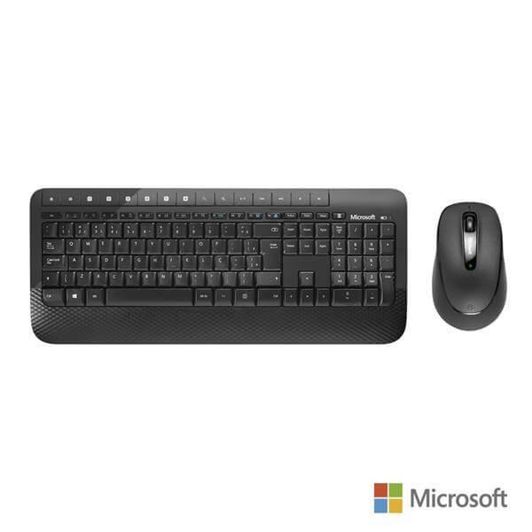 Teclado E Mouse Sem Fio Microsoft Desktop 2000 Usb Preto - M7J00021  - COMPRAS VIA NET