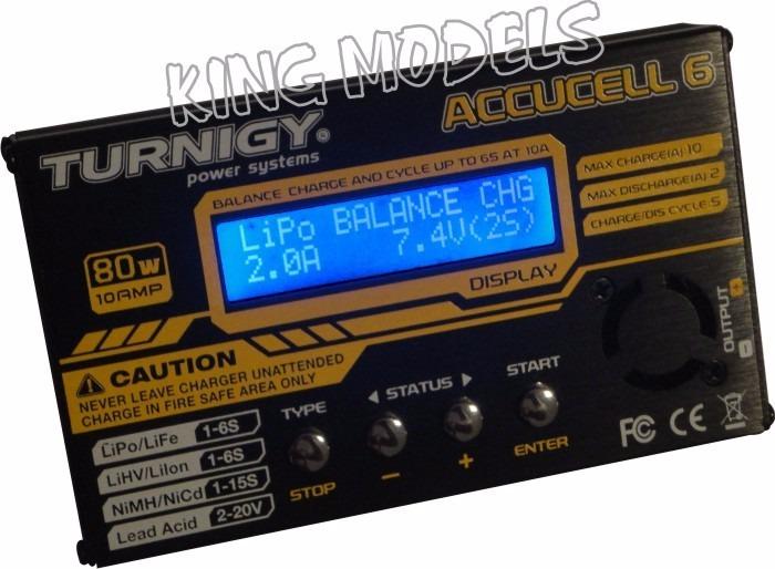 Carregador/balanceador Digital Acuccel 6-80w/10a-Nova Versão!  - King Models