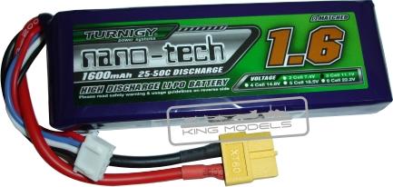 Lipo Turnigy Nano Tech 3s 11,1v -25/50 - 1600Mah  - King Models