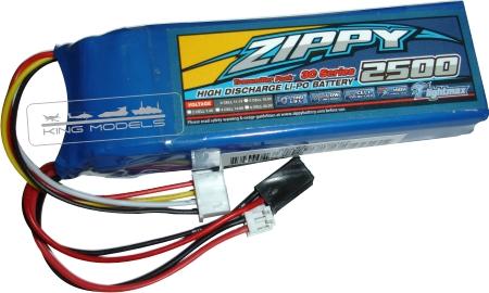 Bateria Lipo Para Transmissor - Modelo Torre - 2500mah  - King Models