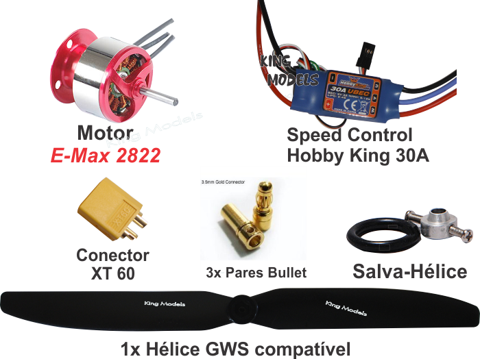 Combo Essencial E-max 2822 Speed HK 30A  - King Models