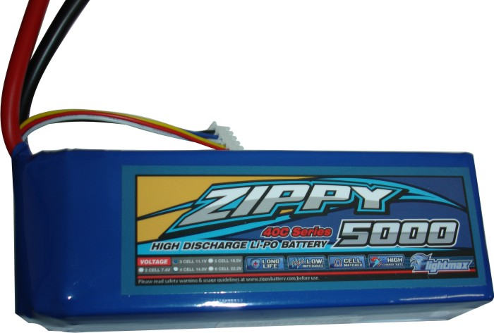 Lipo Zippy/Flightmax -  4s 14,8v-40/50c - 5000mah - Aero / Auto  - King Models