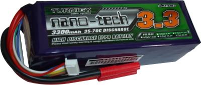 LiPo Turnigy Nano-Tech - 6s 22,2v-35/70 - 3300mah-Aero/Heli  - King Models