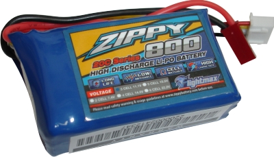 Lipo Zippy/Flightmax - 3s 11,1v-20/30c - 800mah  - King Models